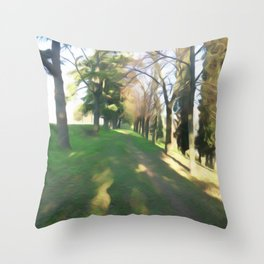 Life on the natural brush Throw Pillow