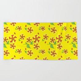 Doxie Flower - Dachshund Dog - Weiner Dog - Weenie Dog Beach Towel
