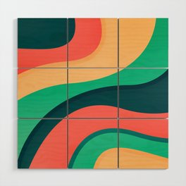 The river, abstract painting Wood Wall Art