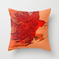 the lion king Throw Pillows featuring Lion King by Avigur