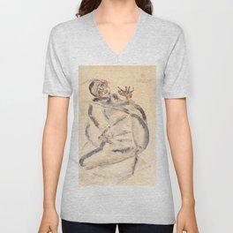 "Egon Schiele ""I Will Gladly Endure for Art and My Loved Ones"" Unisex V-Neck"
