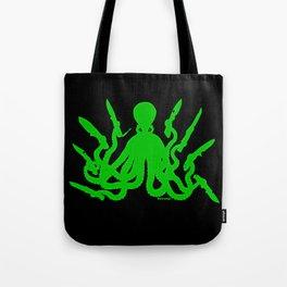 Octopus 8 Knives (toxic green) Tote Bag