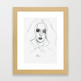 Cheryl getting out of a taxi in 2008 Framed Art Print