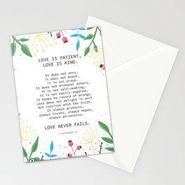 Love is Patient, Love is Kind Stationery Cards