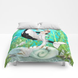 The Mermaid Dance With An Orca Comforters