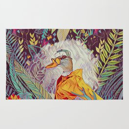 Duck in the jungle Rug