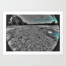 Dried up river bed Art Print
