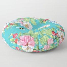 Vintage Floral Pattern No. 3 Floor Pillow