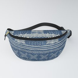 Mud Cloth Geometric Stripe Navy Fanny Pack