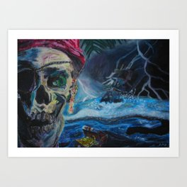 The Pirates Are Coming... Art Print