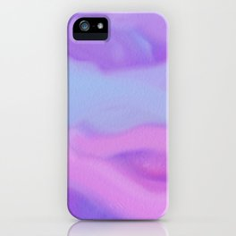 Modern abstract teal magenta violet watercolor pattern iPhone Case
