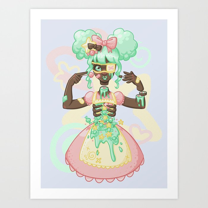 Pastel Candy Gore Art Print By Rittz Society6
