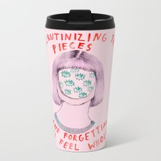 Scrutinizing the pieces and forgetting to feel whole Metal Travel Mug