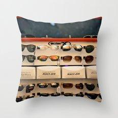 Street Fair Shoppin' Throw Pillow