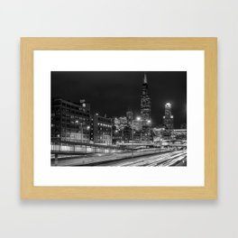 Long Exposure in Chicago Framed Art Print