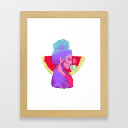 WATERMELONDREA Framed Art Print