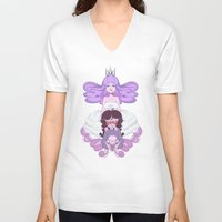 princess V-neck T-shirts featuring Princess  by elixiroverdose