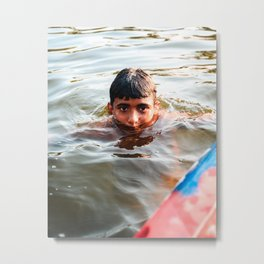 Life in the Water Metal Print