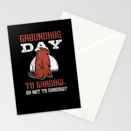 Groundhog Day February 2 Woodchuck Spring Gift Stationery Cards