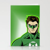 green lantern Stationery Cards featuring Green Lantern by J. J.