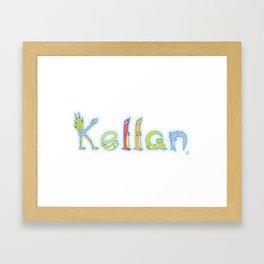 Kellan: Spelled by Zoopha Alphabet Beasties Framed Art Print