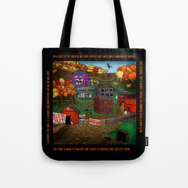 Halloween Dream Town Tote Bag