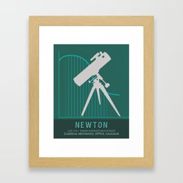 Science Posters - Sir Isaac Newton - Physicist, Mathematician, Astronomer Framed Art Print