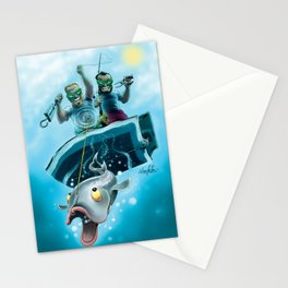 Alien Anglers Stationery Cards