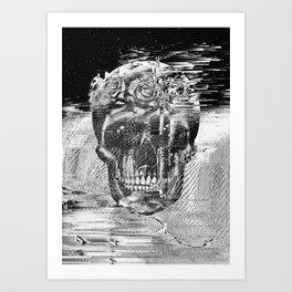 GLITCHED SKULL Art Print