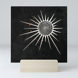 Sunrays and Swirls Inktober :: I Feel An Urgency Mini Art Print