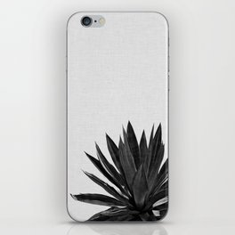 Agave Cactus Black & White iPhone Skin