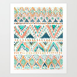 BALLIN' TRIBAL Boho Summer Geometric Art Print