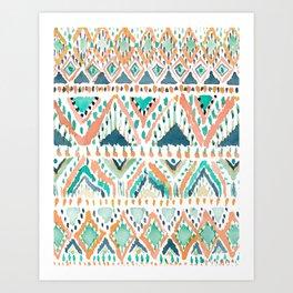 BALLIN' TRIBAL Boho Summer Geometric Art Print