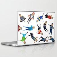 zayn Laptop & iPad Skins featuring Zayn Pattern by jerrh