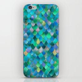 Summer Ocean Metal Mermaid Scales iPhone Skin