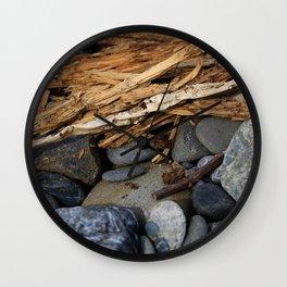Rocks and Kindling Wall Clock