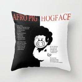 Hogface Throw Pillow