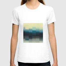 Modern Ombre Tiled Pattern Design T-shirt