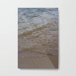Water & Sand Metal Print