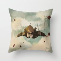 plane Throw Pillows featuring -Plane  crasH- by antoniopiedade