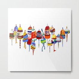 17 Buoys Metal Print