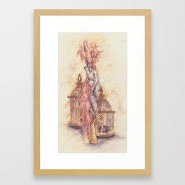 Feathered in Vanity Fair  Framed Art Print