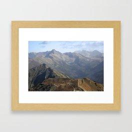 Mountains landscape Framed Art Print