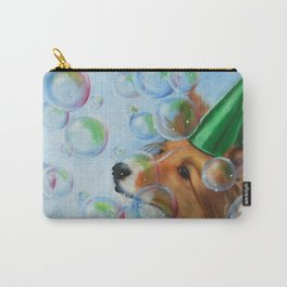 Party Girl Sheltie Dog Painting Carry-All Pouch