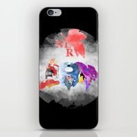 neon genesis evangelion iPhone & iPod Skins featuring Evangelion by icantusechanwei