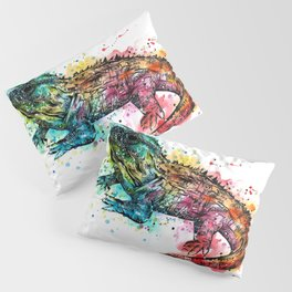 Colourful Tuatara Pillow Sham