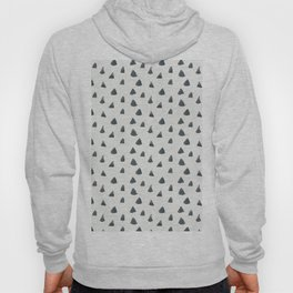Geometrical black white hand painted watercolor triangles Hoody
