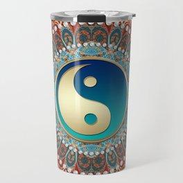 Bohemian Batik Yin Yang Travel Mug