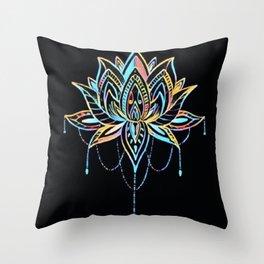 Pastel Lotus Throw Pillow