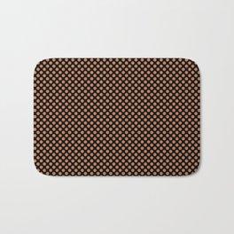 Black and Caramel Polka Dots Bath Mat